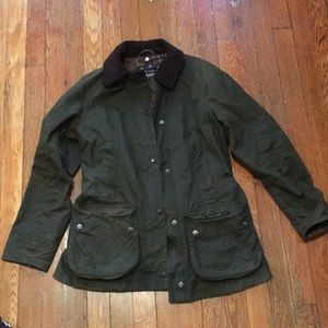 Barbour Beadnell Waxed Jacket, Olive, Size 2